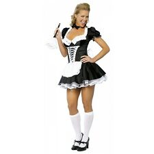 French Maid Costume Adult Womens Sexy Halloween Fancy Dress