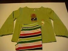 NWT Gymboree Pups and Kisses Top & Striped Knit Pants 2pc Set 3T 4T 5T