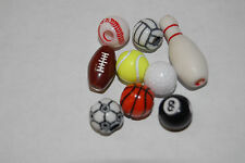 Sports Beads U Pick Football Basketball Soccer Volley Ball Baseball  FreeShip