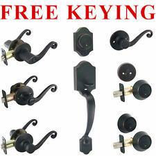 Designers Impressions Livingston Oil Rubbed Bronze Door Lever Knob Hardware
