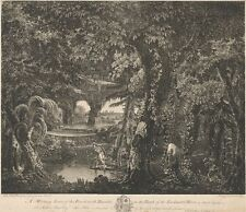 Morning Scene Forest With Rinaldo Bank Enchanted River Edward Rooker 1763 Poster