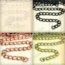 2M Iron Double Curb Unfinished Chains Wholesale Jewelry Making Findings