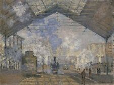 Saint Lazare Station Claude Monet 1877 Art Photo /Poster Repro Print Many Sizes