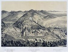 Villa De Guadalupe Seen From Hot Air Ballon Casimiro Castro 1859 Art Poster/Ph