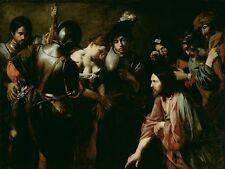Christ Adulteress Valentin De Boulogne French 1591 1632 about-1620-Art Poster