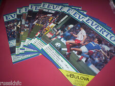 1982/83 EVERTON HOME PROGRAMMES (1983)