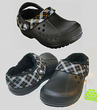 Crocs Blitzen Winter Plaid Kids Black C6/7 C8/9 C10/11 C12/13 J1 J2 J3 $30 SALE