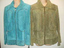 Suede Leather Jacket Size S M L XL Stampede Collection Leather Blazer JUNIORS