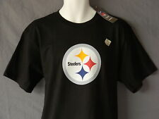 Pittsburgh Steelers Logo Tee Shirt Mens Size Large NFL Football New Black Reebok