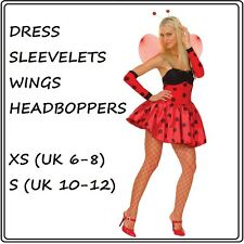 LUCIOUS LADYBUG LADYBIRD FANCY DRESS COSTUME OUTFIT ANIMAL SEXY XS S ACCESSORIES