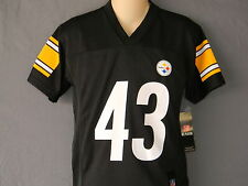 43 Troy Polamalu NFL Players Jersey Pittsburgh Steelers Team Apparel Youth Sizes