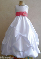 NWT WHITE GUAVA BRIDAL BIRTHDAY TODDLER PAGEANT PARTY RECITAL FLOWER GIRL DRESS
