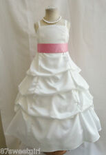 SPU IVORY PETUNIA WEDDING PARTY PRINCESS GOWN PAGEANT FLOWER GIRL DRESS