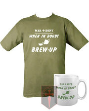 Military When In Doubt Brew Up T SHIRT and MUG Unisex All Sizes (Marines SAS