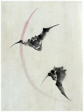 1455.Bats.Asian Design Art Japanese POSTER.Graphics to decorate home office.