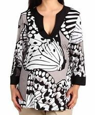 New Olian Maternity Butterfly White Black Gray Tunic Top Shirt MEDIUM SMALL $150