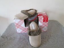NEW $24 CHARTER CLUB FAUX FUR IN/OUTDOOR CLOG SLIPPERS LATTE SM- MD- LG- X-LG