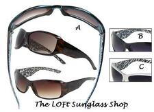 Womens Plastic Fashion Sunglasses Animal Print Classy Celebrity Designer GU02