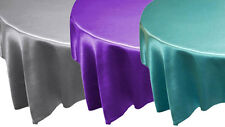 "15 pcs 90x90"" SATIN Table OVERLAYS - Wholesale Square Wedding Linens Discounted"