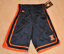 NWT Colosseum® Boys/Youth ILLINOIS FIGHTING ILLINI Mesh Basketball Shorts S-M-L