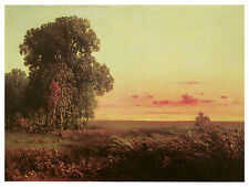 1334 Sunset land nature Art Decoration POSTER.Graphics to decorate home office.