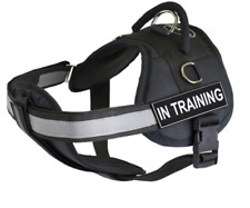 "Dean & Tyler ""DT Works with Chest Pad"" Dog Harness with Removable Patches and"