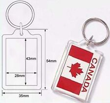 Wholesale Blank Clear Acrylic Keyring 28x43 Photo Insert DIY Craft Keychain 9008