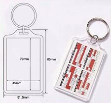 Wholesale Blank Clear Acrylic Keyrings 45x70 Photo Insert Craft Keychains E1306