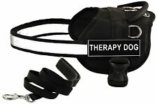 DT WORKS Working Harness & Padded Puppy Bundle w/ Velcro Patches: THERAPY DOG