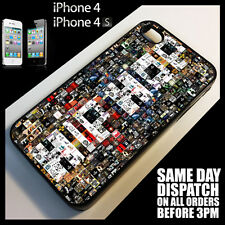 Cover for iPhone 4/4S/4G Hip Hop Collage Music Tupac Vinyl Pattern Case *6097