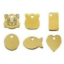 RED DINGO BRASS PET CAT ID TAG engraved free metal disc