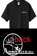 New Armalite T Shirt Front and Back Logo AR 10  MR 15 Shirt tee