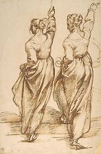 Photo Print: Passarotti Bartolomeo Study Two Female Figures For The Altar Piece