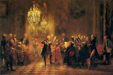 Photo Print A Flute Concert of Frederick the Great at Sanssouci Menzel, Adolph V