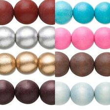 16 inch Strand of Big Colored 20mm Round Wooden South Sea Smooth Wood Beads
