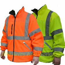 Fleece Superior Hi Viz Jacket Mens Reflective Safety Lined Work Coat NEW Class