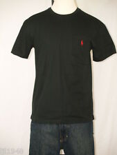Polo Ralph Lauren Black Pocket T-shirt Polo Pony 100% Cotton  S M XL NWT