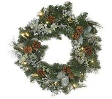 """Bethlehem Lights Battery Operated 24"""" Eucalyptus Wreath with Timer   H192483"""