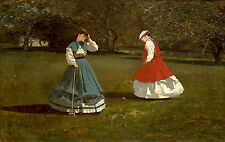 Photo/Poster - Game Of Croquet - Winslow Homer 1836 1910