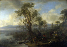 Photo/Poster - Stag Hunt - Wouwerman Philips 1619 1668