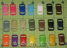 """50 ct 21 colors 3/8"""" side release K2 buckles curved for paracord bracelet"""