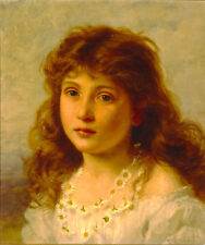Art Print - Young Girl - Sophie Gengembre Anderson 1823 1903