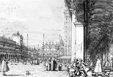 Photo/Poster - Looking East From The South West Corner - Canaletto 1697 1768