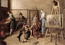 Art Print - Molenaer Jan Miense Painter In His Studio Painting A Musical Company