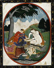 Art Photo Print - Unknown Artist Shiva And Parvati With Their Children Ganesha A