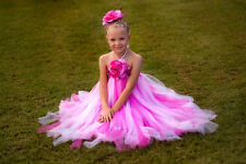 flower girl holiday party birthday photograph tutu dress 0 1T2T3T4T5T young girl