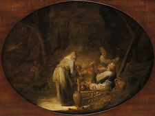 Art Photo Print - Barn Boors Smoking Drinking - Aelbert Cuyp 1620 1691
