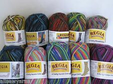 REGIA 4 Ply Colour Sock Yarn x 50g ~ Choose Colour ~ Multicoloured sock wool