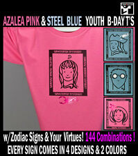 Azalea PINK SteelBlue Birthday T-shirts Horoscope Zodiac Astrology Sign Scorpio