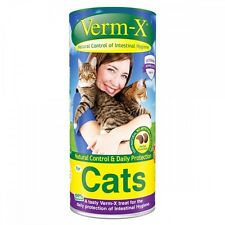 VERM-X HERBAL CRUNCHIES FOR CATS natural cat intestinal wormer parasite treats
